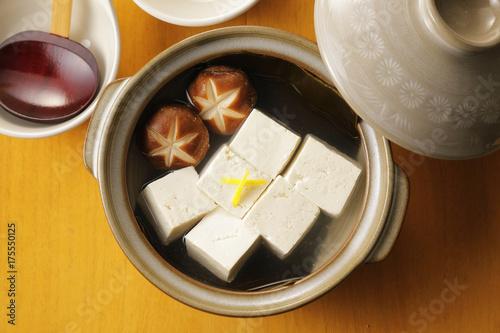 Foto op Plexiglas 湯豆腐 Boiled tofu