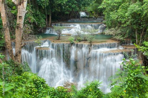 Fototapety, obrazy: Huai Mae Khamin Waterfall in Kanchanaburi, Thailand