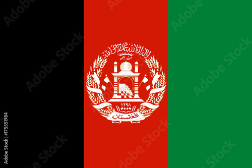 National flag of Afghanistan Canvas Print