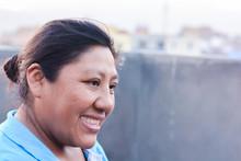 Happy Latin Woman Smiling