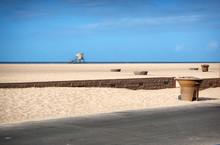 Lifeguard Tower On Beach Sand