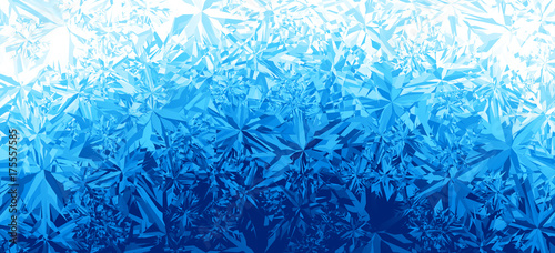 Fotografia, Obraz  Winter blue ice frost background