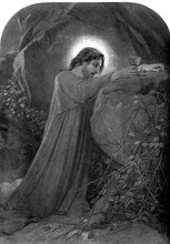 Jesus Praying In The Garden Of Gethsemane, Addressed To God The Father.