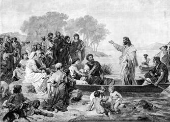 Fototapeta Do kościoła The Message Of Jesus.