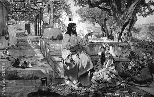 Valokuva  Christ with Maria and Martha