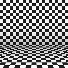 Checkered Monochrome Wall And ...