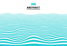 Abstract Blue Lines Wave, Wavy Stripes Pattern, Rough Surface, Vector