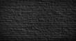 Old black brick wall background.