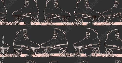 Fotografía Hand drawn vector abstract creative illustration seamless pattern with graphic r
