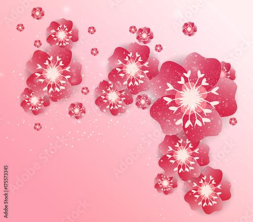 Chinese new year background blossom sakura branches