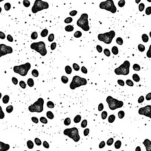 Paw Of Dog Print Vector Vexture