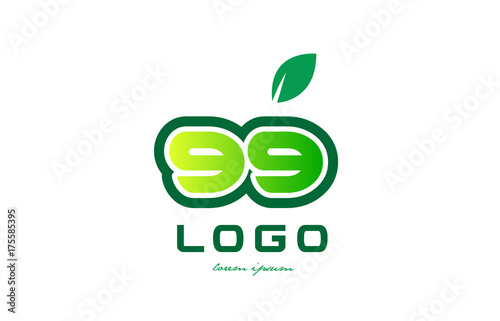 Photographie  Number 99 numeral digit logo icon design