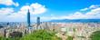 canvas print picture - taipei city panorama