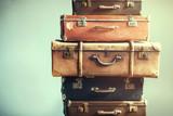 Vintage starożytne walizki bagażowe Ancient Shabby - 175590141