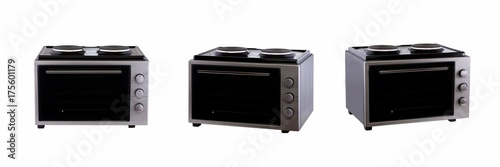 three positions review electric home furnace on a white background