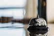 Leinwanddruck Bild - service bell on reception in hotel or restaurant