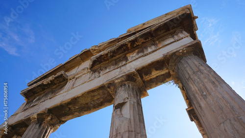 Fotografie, Obraz  Photo of iconic ancient site of Roman Forum, Athens historic center, Attica, Gre