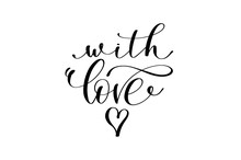 With Love Hand Lettering Inscr...