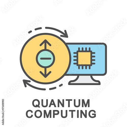 Icon quantum computer  Calculations based on quantum