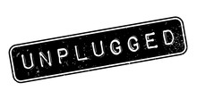 Unplugged Rubber Stamp. Grunge...