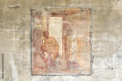 Fotografie, Obraz  ancient roman fresco, Pompeii, Italy, Europe
