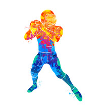 Abstract American Football Player