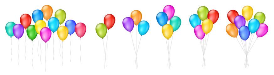 Vektorske ilustracije šarenih balona