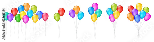 Obraz na plátně Vector colorful balloons illustrations