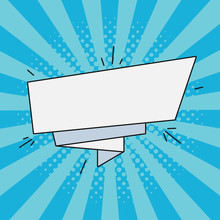 Comic Paper Banner For Text. R...