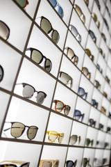Display full of sunglasses