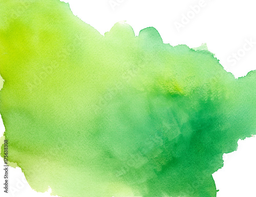 Green Watercolor Wash Background