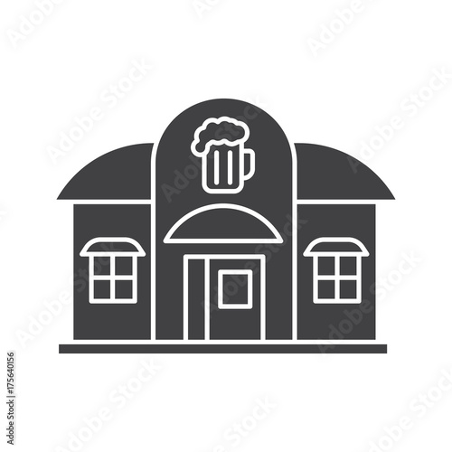 Photo Alehouse, beerhouse glyph icon