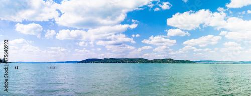Photo  Balaton lake - Hungary. Old style postprocessing image.