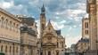 Church of Saint-Etienne-du-Mont timelapse in Paris near Pantheon.
