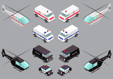 Isometric Vehicles Of The Emer...