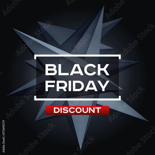 Black Friday Discount  Volume geometric shape, 3d levitation