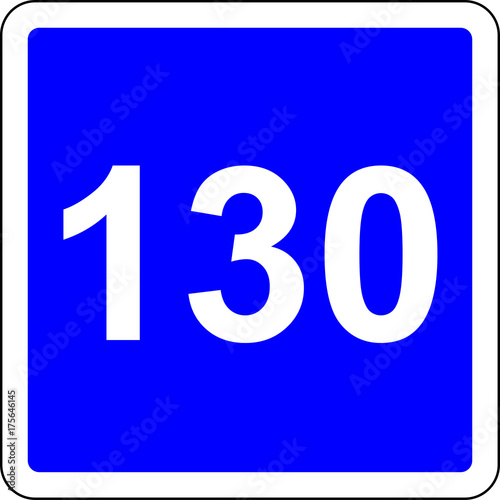 Fotografia  130 suggested speed road sign