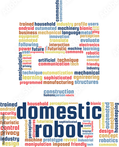 Domestic Robot Word Cloud Text Illustration Robotics Keyword Tags