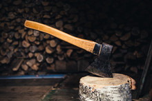 Axe For Chopping Firewood In T...