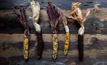 Dried Corn On Wood