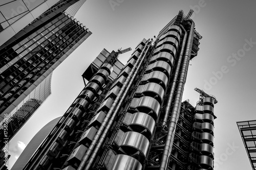 Black and white image of London's skyscrapers Wallpaper Mural