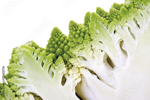 Fotografie, Obraz  Romanesco Cabbage (Brassica oleracea), halved