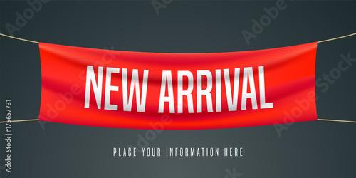 New arrival vector illustration, banner Canvas Print