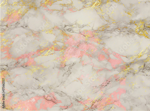 Rose And Gold Marble Background Shiny Glitter And Glossy
