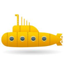 Yellow Submarine . White Backg...