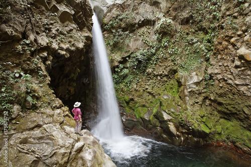 Waterfall, Hacienda Guachipelin, Rincon de la Vieja, Guanacaste, Costa Rica, Cen Wallpaper Mural