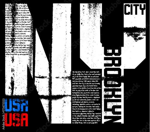 Newyork typography graphic design