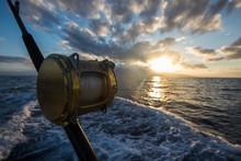 Deep Sea Fishing Reel On A Boa...
