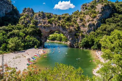 Foto Val pont d'Arc, Ardèche, France.