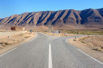 Fork in the road. Morocco